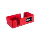Mini Organizador Due Vermelho 12,3x6x3,8cm 1 UN Coza