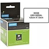 Etiqueta para Impressora Label Writer 4,6x7,9cm Branca Rolo com 150 UN Dymo