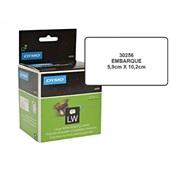 Etiqueta para Impressora Térmica 5,9 x 10,2mm Rolo com 300 UN Dymo