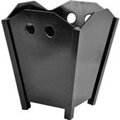 Cesto de Lixo sem Tampa 10L Duratex Black Piano 1 UN Souza