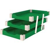 Caixa de Correspondência Tripla Madeira Verde 1 UN Souza
