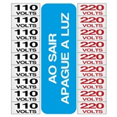 Placa de Alumínio Etiquetas de Voltagem 110V e 220V 3 UN Sinalize