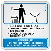 Placa de Alumínio Procedimentos para Sanitário Masculino 1 UN Sinalize