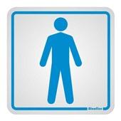 Placa de Alumínio Sanitário Masculino Azul Sinalize