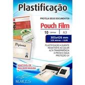 Plástico para Plastificação 0,05 A3 303x426cm PT 10 UN Mares