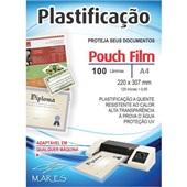 Plástico para Plastificação 0,05 A4 220x307mm PT 100 UN Mares