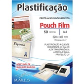 Plástico para Plastificação 0,07 A4 220x307mm PT 50 UN Mares