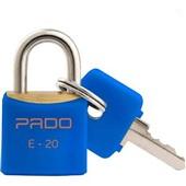 Cadeado em Latão Cores 20mm Azul 1 UN Pado