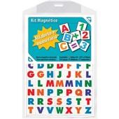 Imã Magnético Alfabeto e Numérico Colorido Brindplast