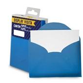 Envelope Visita com Cartão Azul Royal 80x115mm PT 20 UN Romitec
