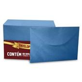 Envelope Visita Color Mais Azul Royal 80x115mm PT 100 UN Romitec