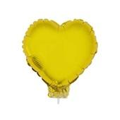 Balão Funny Fashion Coração c/ Vareta N°11 Ouro 1 Unidade