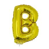 Balão Letra B com Vareta Nº16 Ouro 1 UN Funny Fashio