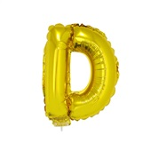 Balão Letra D com Vareta nº16 Ouro 1 UN Funny Fashion