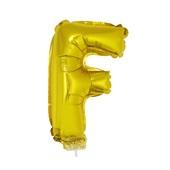 Balão Letra F com Vareta nº16 Ouro 1 UN Funny Fashion