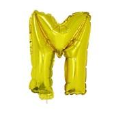 Balão Letra M com Vareta nº16 Ouro 1 UN Funny Fashion