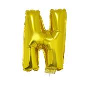 Balão Letra N com Vareta nº16 Ouro 1 UN Funny Fashion
