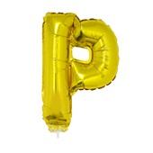 Balão Letra P com Vareta nº16 Ouro 1 UN Funny Fashion