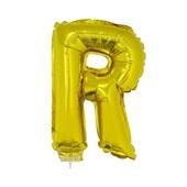 Balão Letra R com Vareta nº16 Ouro 1 UN Funny Fashion