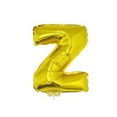 Balão Letra Z com Vareta Nº16 Ouro 1 UN Funny Fashion