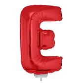 Balão Letra E com Vareta Nº16 Vermelho 1 UN Funny Fashion