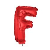 Balão Letra F com Vareta Nº16 Vermelho 1 UN Funny Fashion