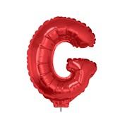 Balão Letra G com Vareta Nº16 Vermelho 1 UN Funny Fashion