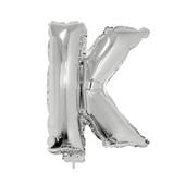 Balão Letra K com Vareta Nº16 Prata 1 UN Funny Fashion
