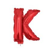 Balão Letra K com Vareta Nº16 Vermelho 1 UN Funny Fashion