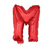 Balão Letra M com Vareta Nº16 Vermelho 1 UN Funny Fashion