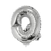 Balão Letra Q com Vareta Nº16 Prata 1 UN Funny Fashion
