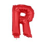 Balão Letra R com Vareta Nº16 Vermelho 1 UN Funny Fashion