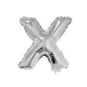Balão Letra X com Vareta Nº16 Prata 1 UN Funny Fashion