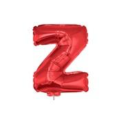Balão Letra Z com Vareta Nº16 Vermelho 1 UN Funny Fashion