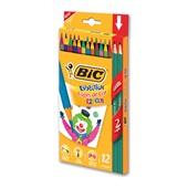 Lápis de Cor Triangular Evolution Kids Cores e 2 Lápis Preto Bic