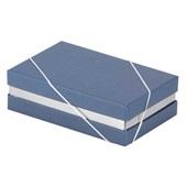 Caixa Rígida Azul com Berço Metalizado 15,5x10,4x5cm 1 UN Paloni