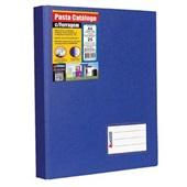 Pasta Catálogo A4 com 25 Envelopes Visor Ferragem 265x320mm Azul Royal 1 UN Chies