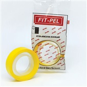 Fita Adesiva Amarela PP 12mm x 10m 1 UN Fit Pel