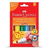 Caneta Hidrográfica Colorir Jumbo 6 Cores Faber Castell