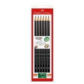 Lápis Preto B N.2 EcoLápis Max Redondo com Apontador 6 UN Faber Castell