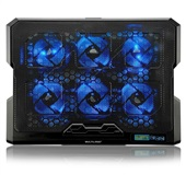 Cooler para Notebook com 6 Fans LED Azul AC282 1 UN Multilaser