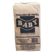 Papel Toalha Interfolha 2 Dobras 20x21cm Branco PT 1000 FL Baby