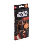 Lápis de Cor Sextavado Star Wars 12 Cores Tris