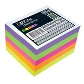 Bloco para Rascunho em Cubo Colorido Neon 92x82mm 600 FL 1 UN Tilibra
