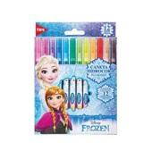 Caneta Hidrográfica Colorir Frozen 12 Cores Tris