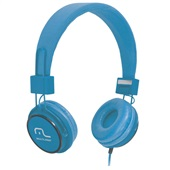 Headphone Fun com Microfone Haste Ajustável Azul PH089 1 UN Multilaser