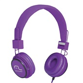 Headphone Fun com Microfone Haste Ajustável Roxo PH090 1 UN Multilaser