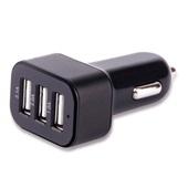 Carregador Automotivo 3 Entradas USB Preto CB074 1 UN Multilaser
