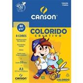 Bloco Colorido Criativo A3 8 Cores 32 FL 1 UN Canson
