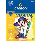 Bloco Vegetal A4 50 Folhas 1 UN Canson